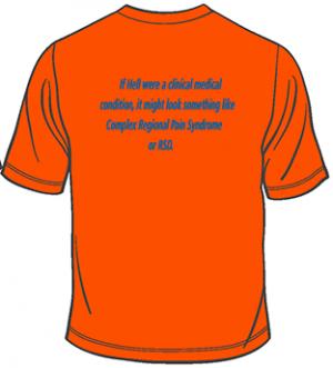 CRPS/RSD Orange T-shirt