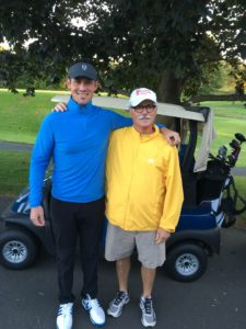 Zach Baron with RSDSA Executive Vice President and Director, Jim Broatch. This is a part of RSDSA's Longest Day of Golf