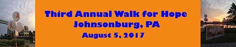 Third Annual Walk for Hope
