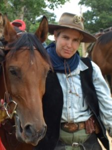 Shara, a veteran with CRPS, pictured with horse Dusty
