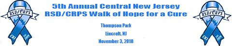 5th Annual Central NJ RSD/CRPS Walk of Hope for a Cure