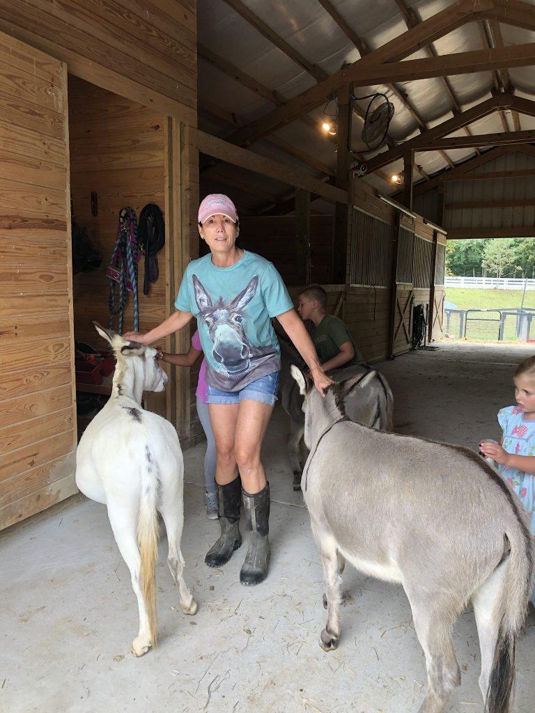 Teryl Worster on her farm